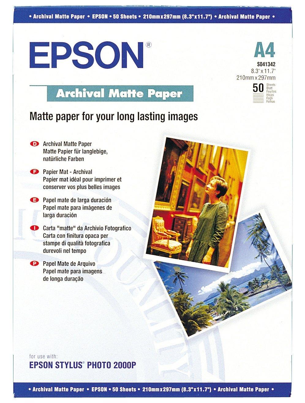 A3 Epson C13S041342 Archival Matte Paper A4 50 Sheets