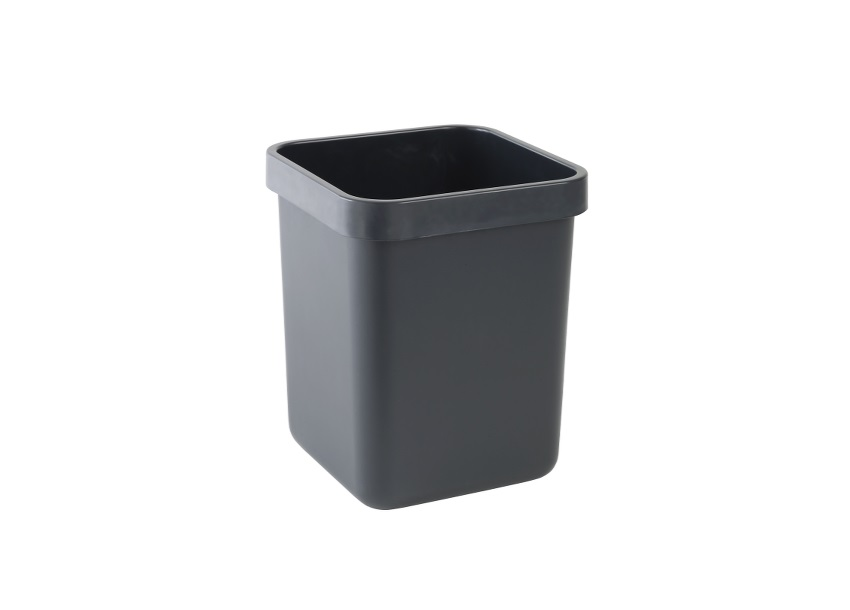 Rexel Agenda Classic Waste Bin Rectangular W311xD311xH390mm 28 Litres Charcoal Ref 25671