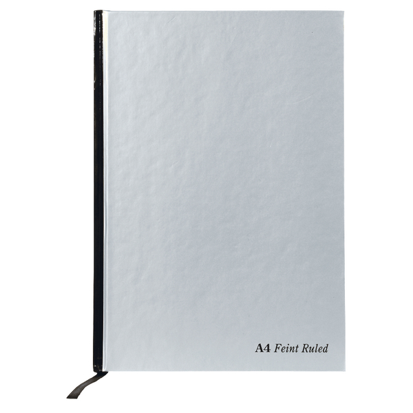 Ruled Pukka Pad A4 Book Casebound Ruled 192 Page Silver PK5