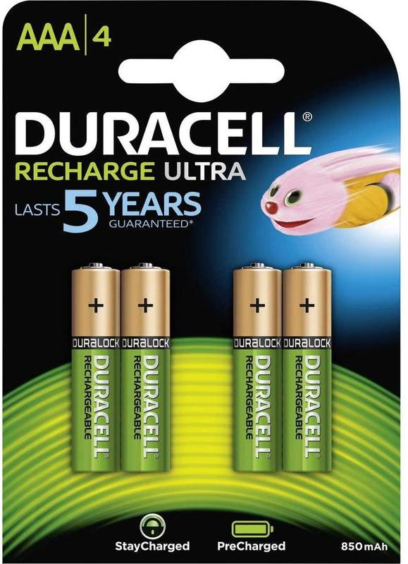 AAA Duracell Ultra Power AAA Rechargeable Batteries PK4