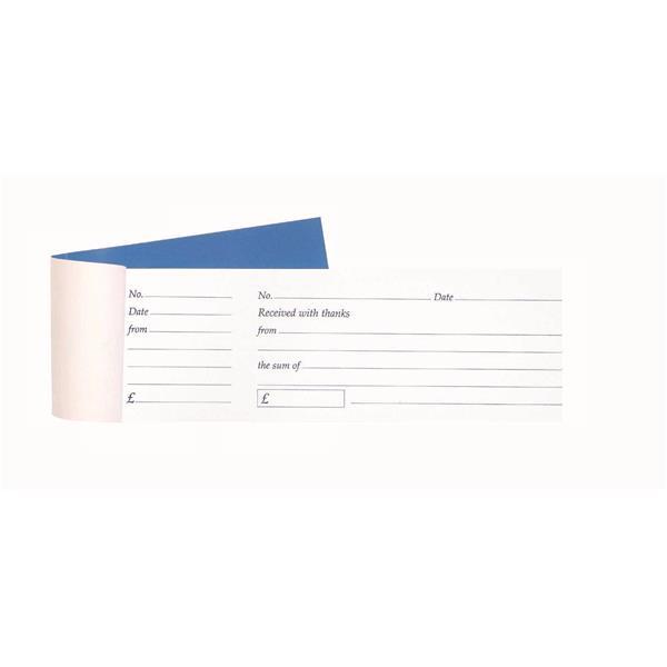 Cash Receipt Book Tear Off 80 Receipts 79x202mm