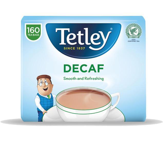 Tea Tetley Decaffeinated Tea Bags (Pack 160)