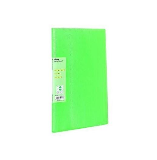Pentel Recycology Vivid A4 Display Book 30Pockets Green PK10