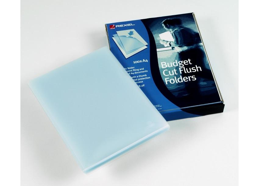 Rexel Budget Polyprop Cut Flush Folder A4 12182 (PK100)