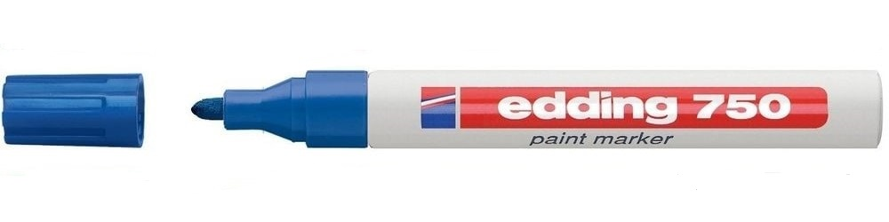 Edding 750 Paint Marker Bullet Tip 2-4mm Blue PK10