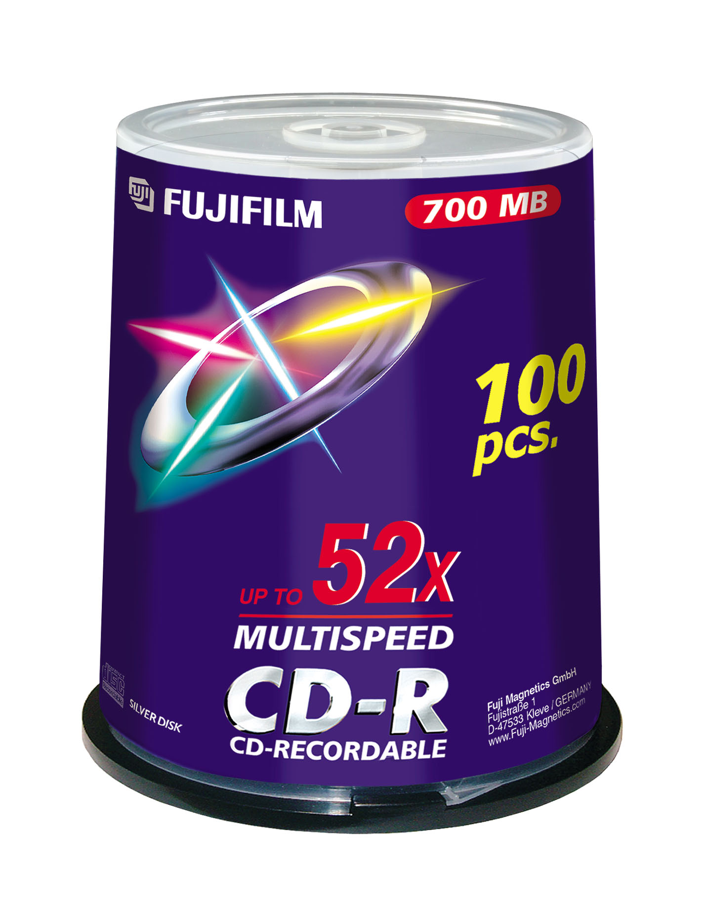 Image for )Fuji 100PK CD-R 700MB 52x Spindle