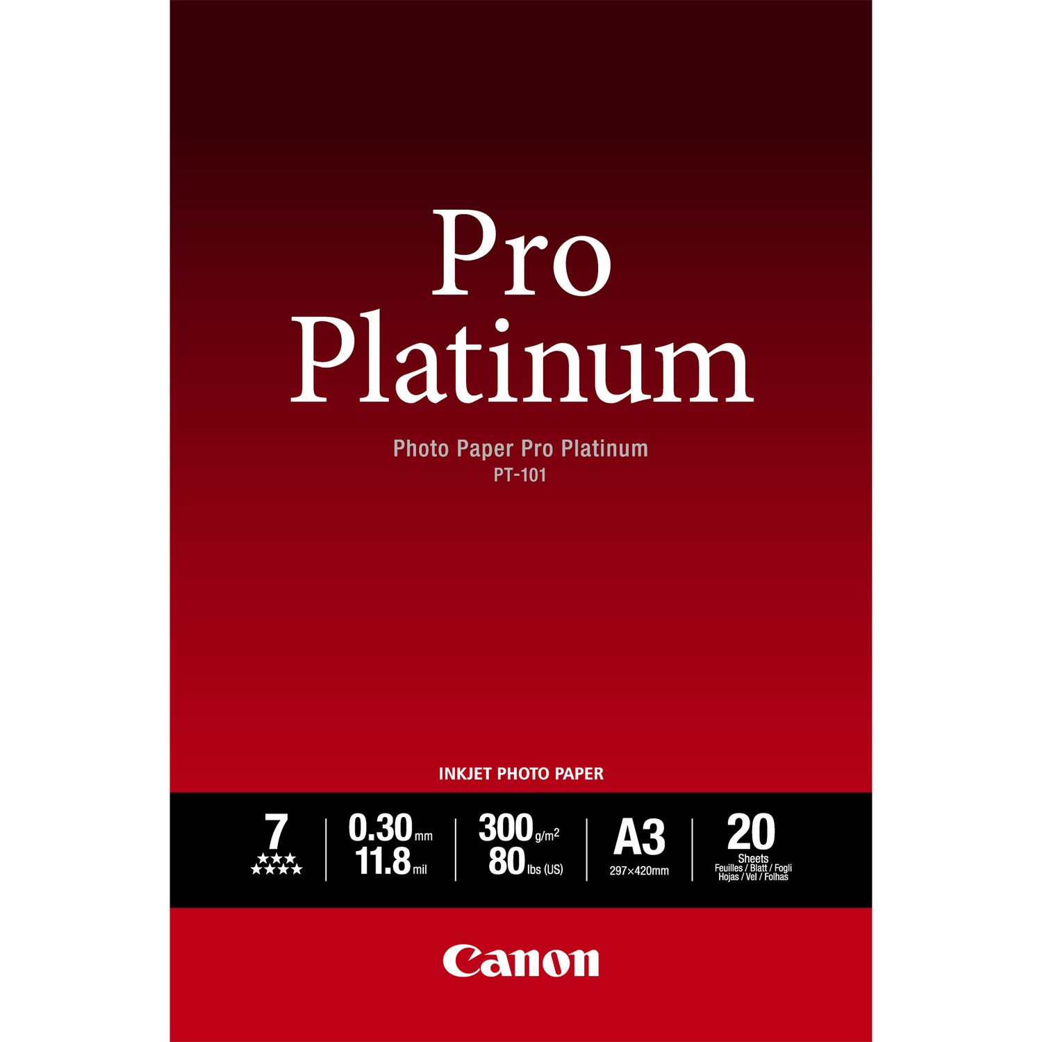 Canon 2768B017 Photo Paper A3 20 Sheets