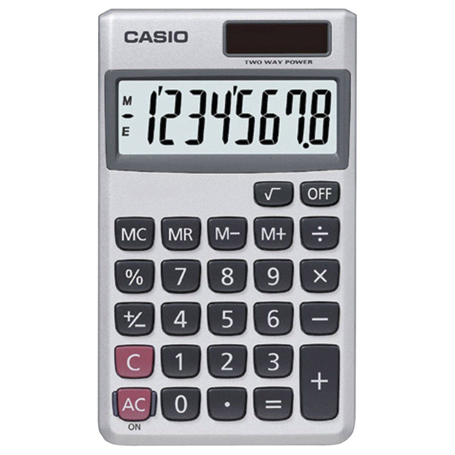 Handheld Calculator Casio SL-300SV Solar 8-Digit Pocket Calculator White