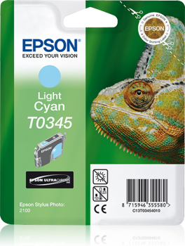 Epson Singlepack Light Cyan T0345 Ultra Chrome Ink Cartridge Ref C13T03454010