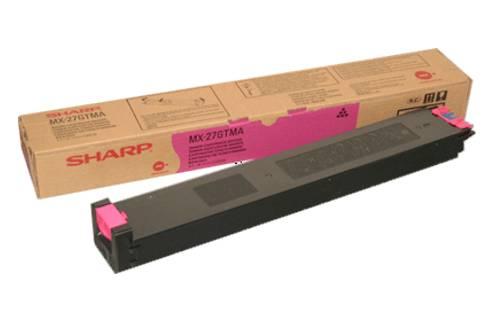 Laser Toner Cartridges Sharp MX27GTMA Magenta Toner 15K