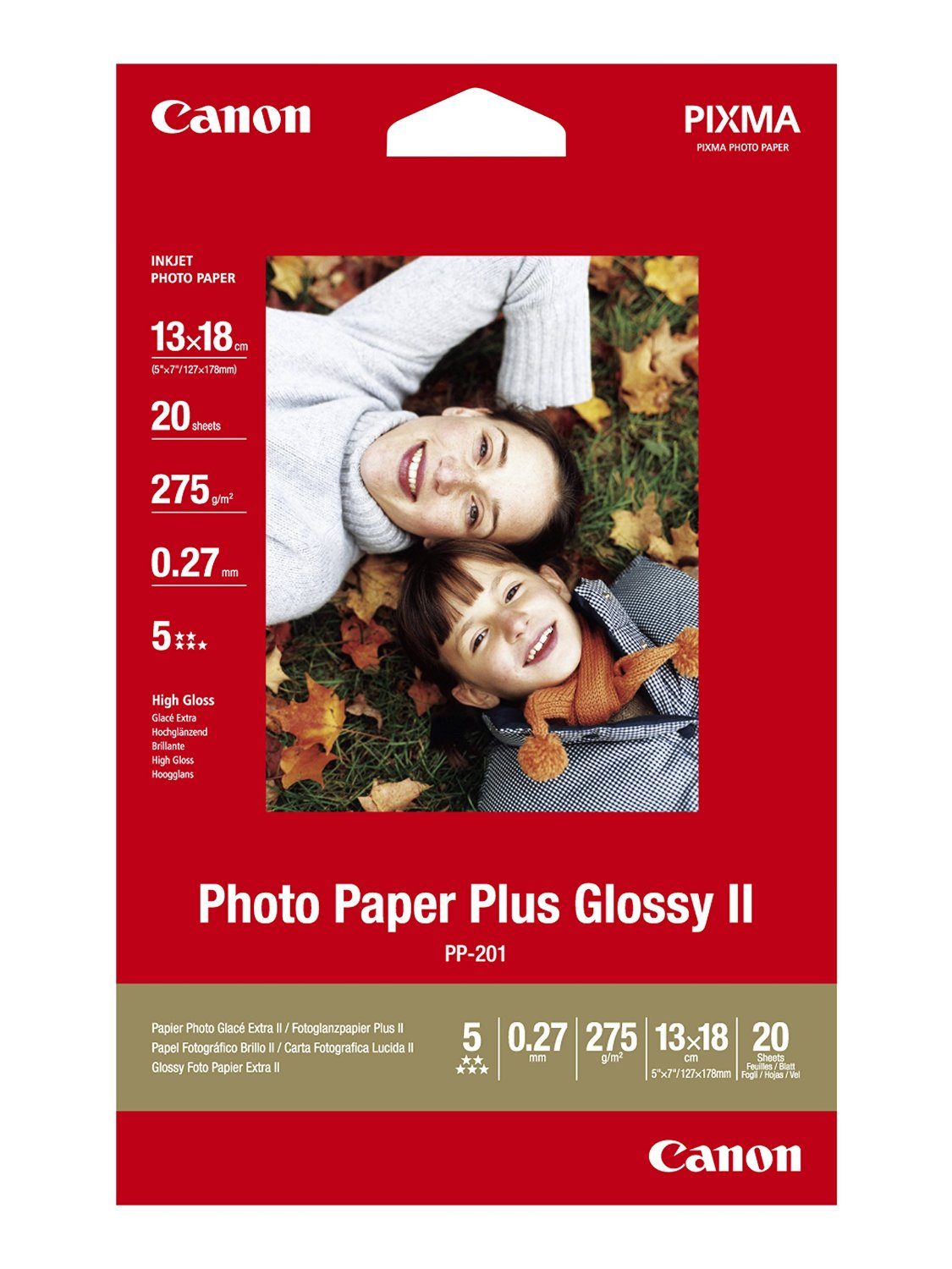 Canon 2311B018 Gloss Photo Paper 13x18cm 20 Sheets