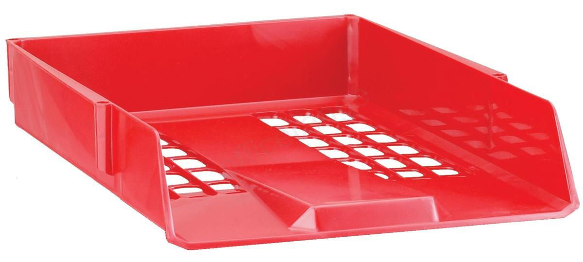 Avery Basics Letter Tray Stackable Versatile A4 Foolscap Red Ref 1132RED
