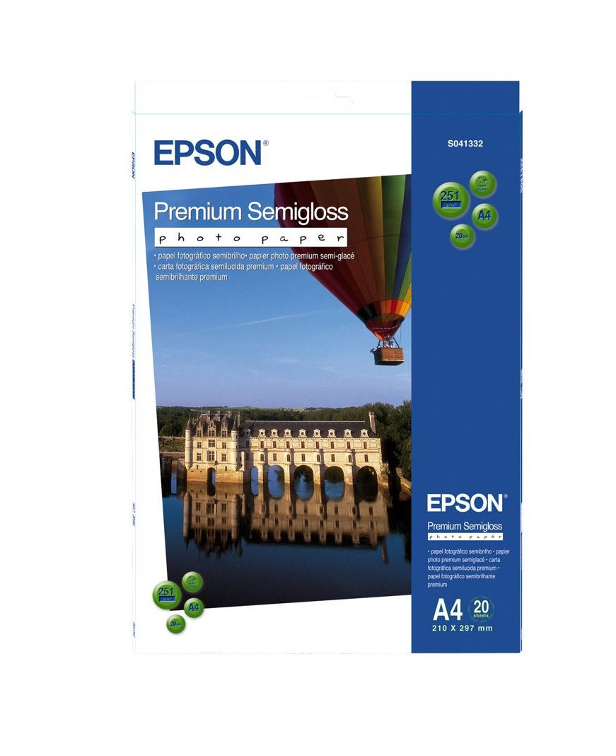 Photo Paper Epson C13S041332 Semi Gloss Photo A4 20 Sheets