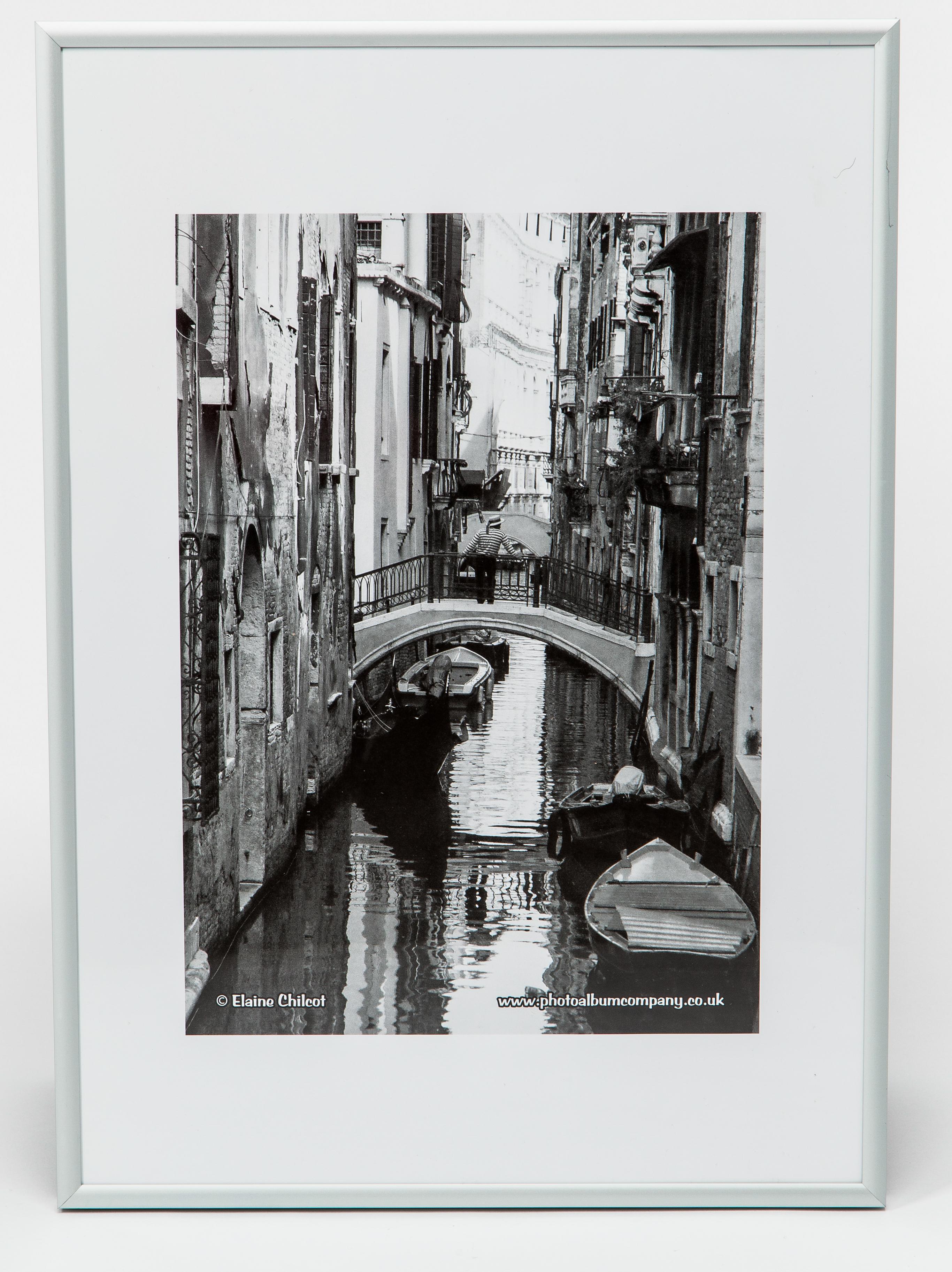 Certificate / Photo Frames Photo Album co A3 Poster Display/Cert Frame Satin Silver Aluminium