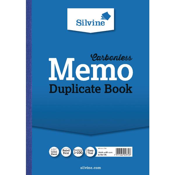 Silvine Carbonless Duplicate Book A4 PK3