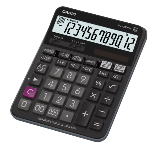 Casio DJ-120D Plus Desktop Calculator Black
