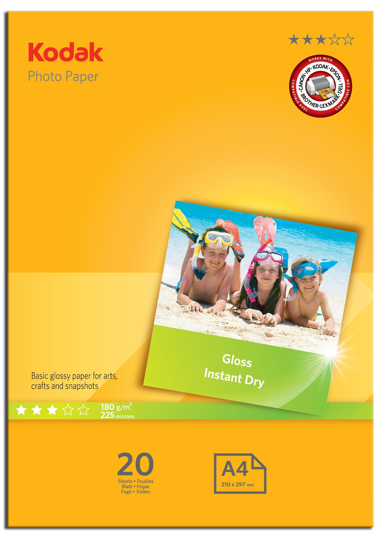 Photo Paper Kodak 5740512 A4 Gloss Photo Paper 20 Sheets