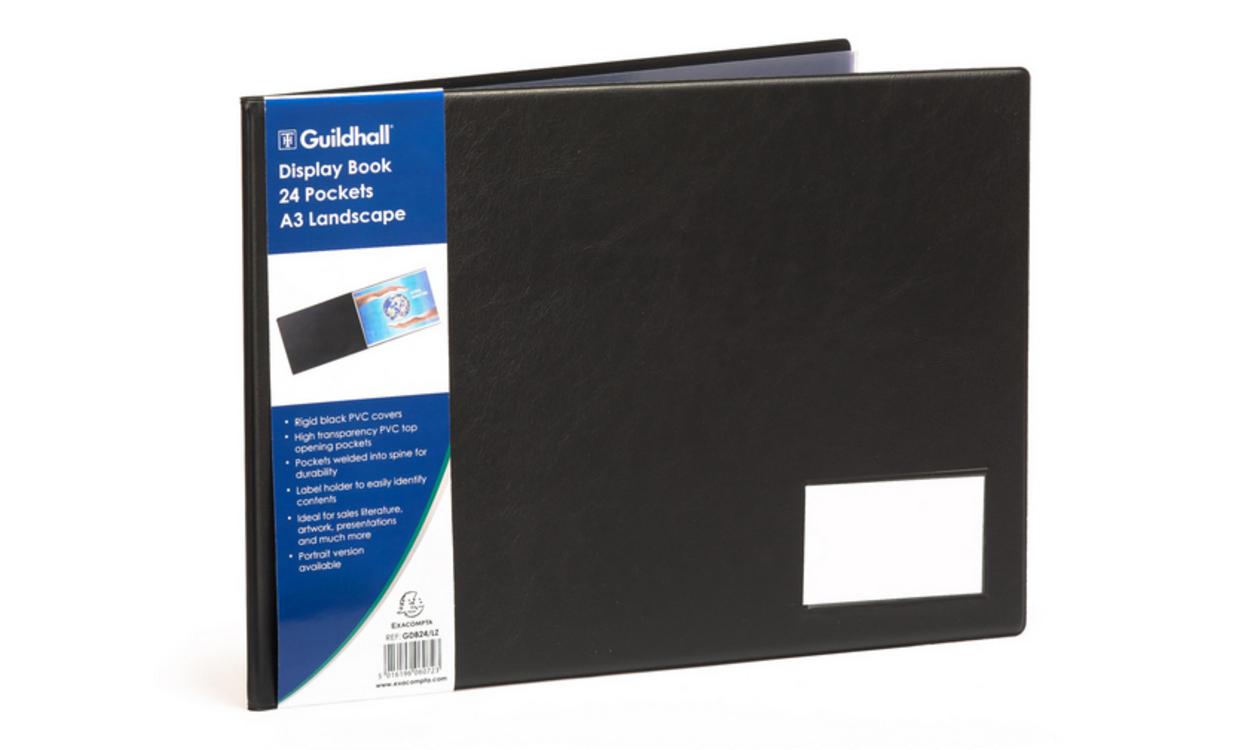 Goldline A3 Display Book Landscape 24 Pockets