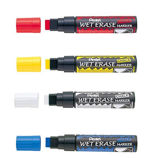 Pentel Jumbo Chalk Chisel Markers Pk4