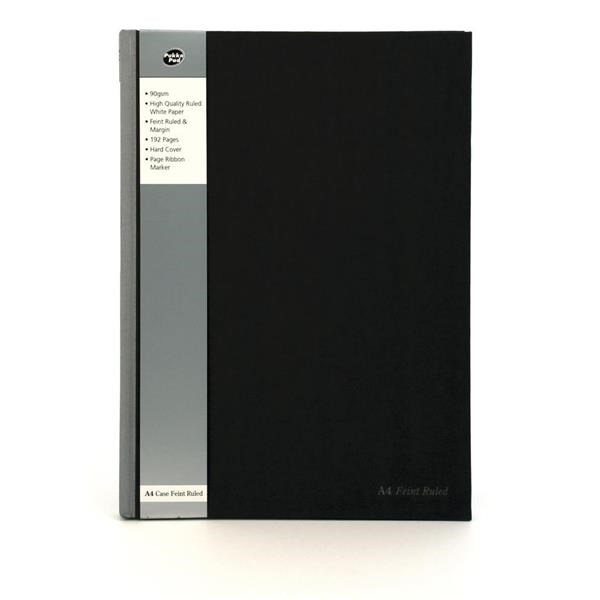 Ruled Pukka Pad A4 Casebound Ruled 192Pages Silver/Black PK5