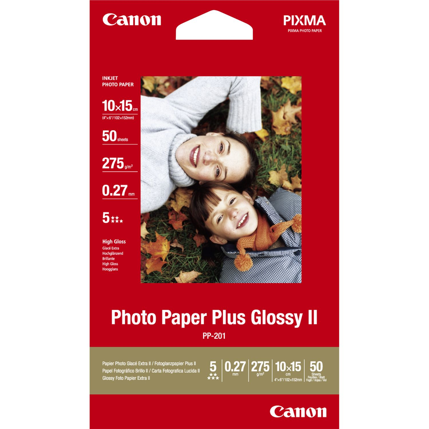 Canon 2311B003 Gloss Photo Paper 10x15cm 50 Sheets