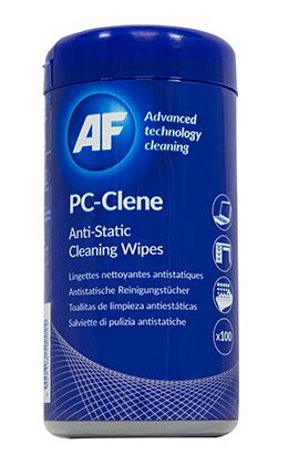 AF PC-Clene Anti-Static Wipes Tub Pk100