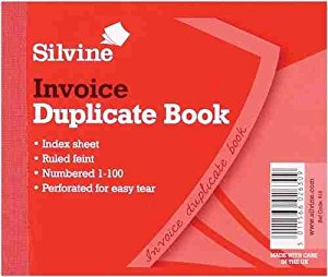 Things To Do Today Silvine Dupl Invoice Book 102x127mm Pk12