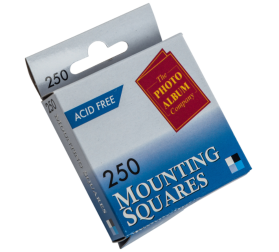 Photo Mounting Photo Album Co Double sided Mounting Squares PK250