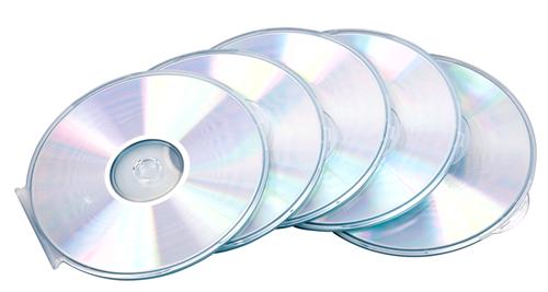 Fellowes CD Case Round Slim Clear 9834201 (PK5)