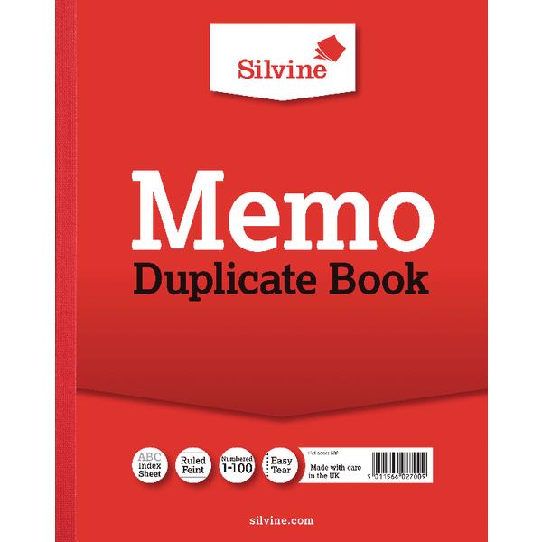 Silvine Dup Memo Book 254x203mm PK6