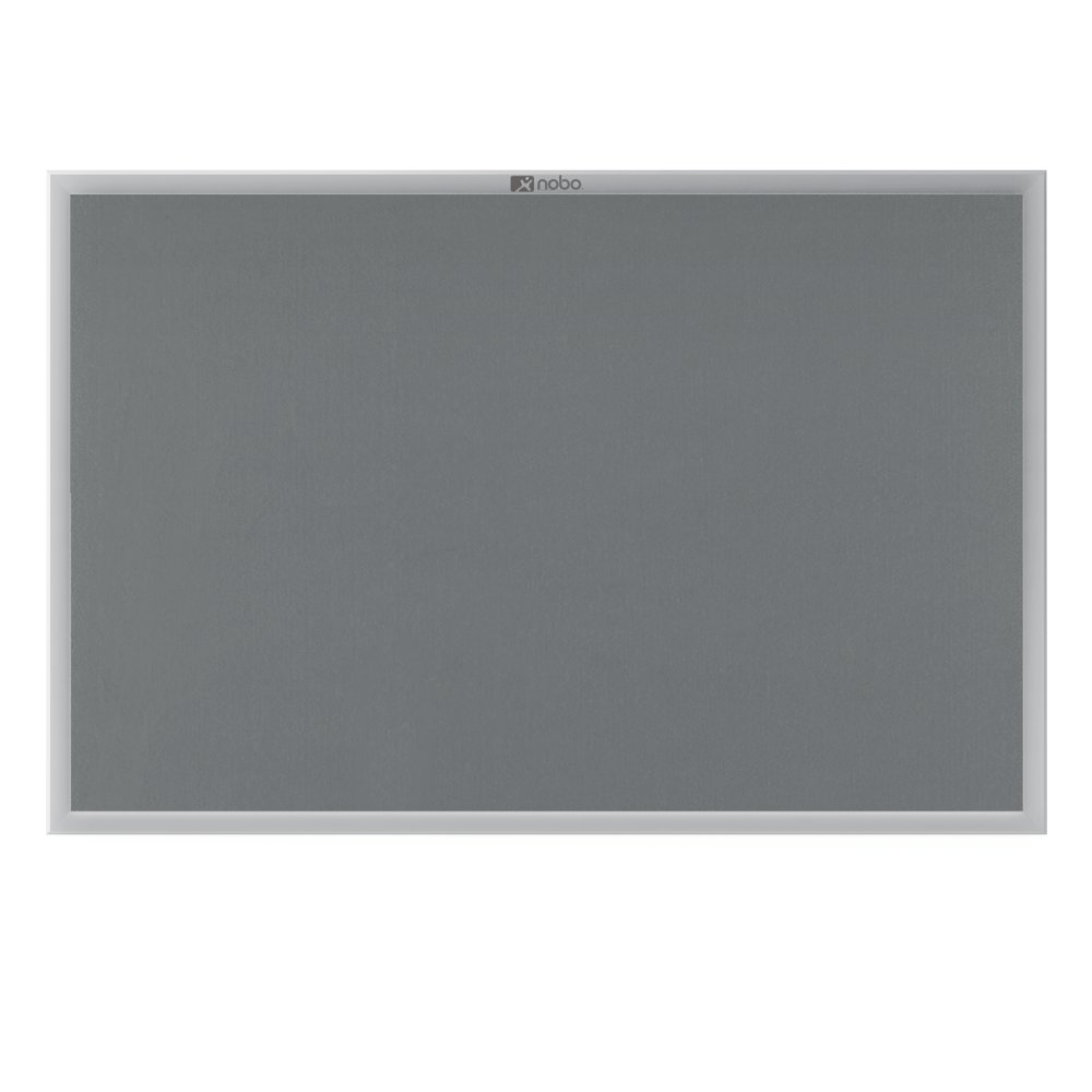 Nobo Euro Plus Noticeboard Felt with Fixings and Aluminium Frame W924xH615mm Grey Ref 30230157