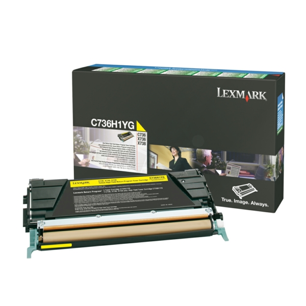 Lexmark Laser Toner Cartridge Page Life 10000pp Yellow Ref C736H1YG