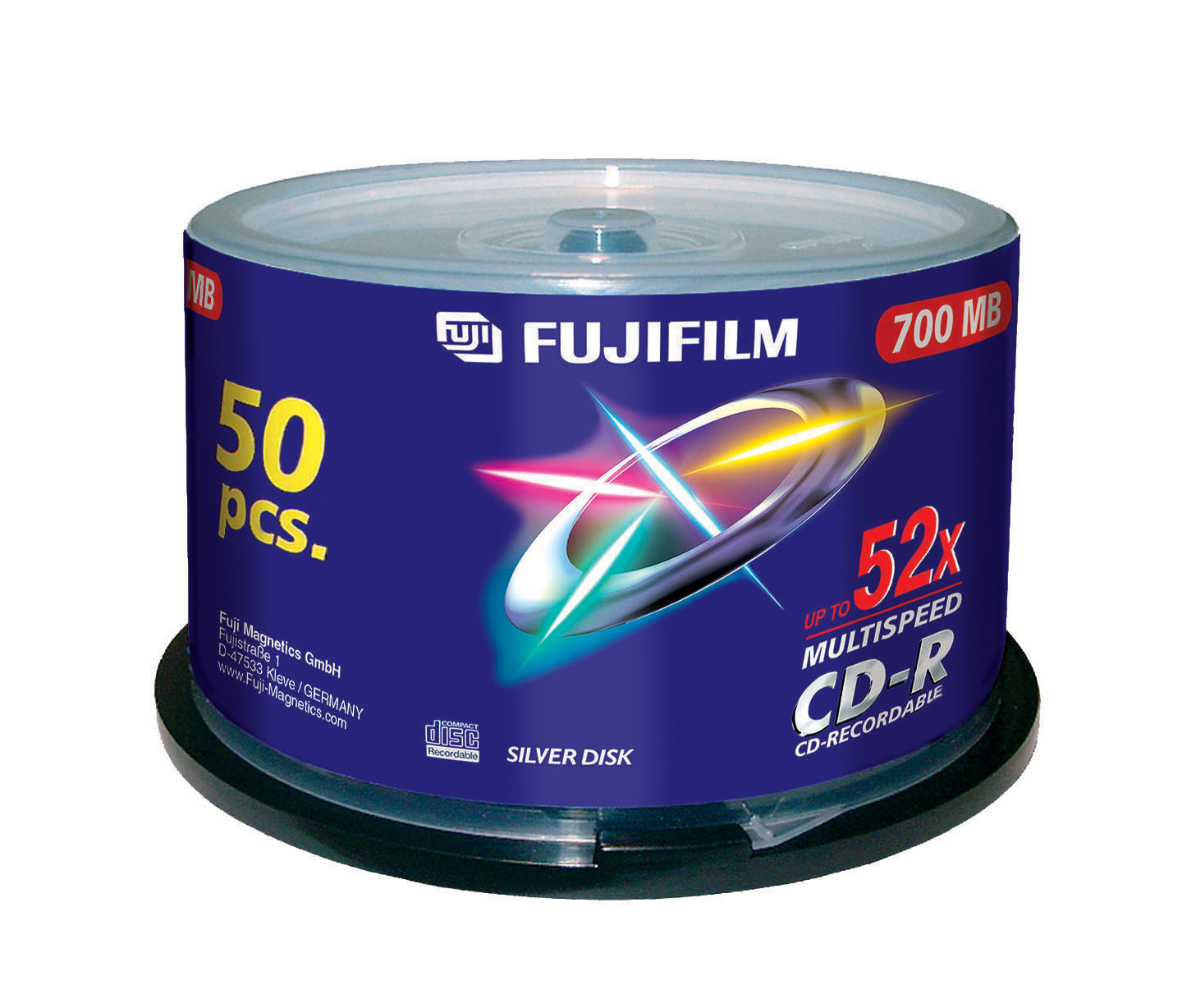 Image for )Fuji 50PK 80Min CD-R 700MB 52x Spindle