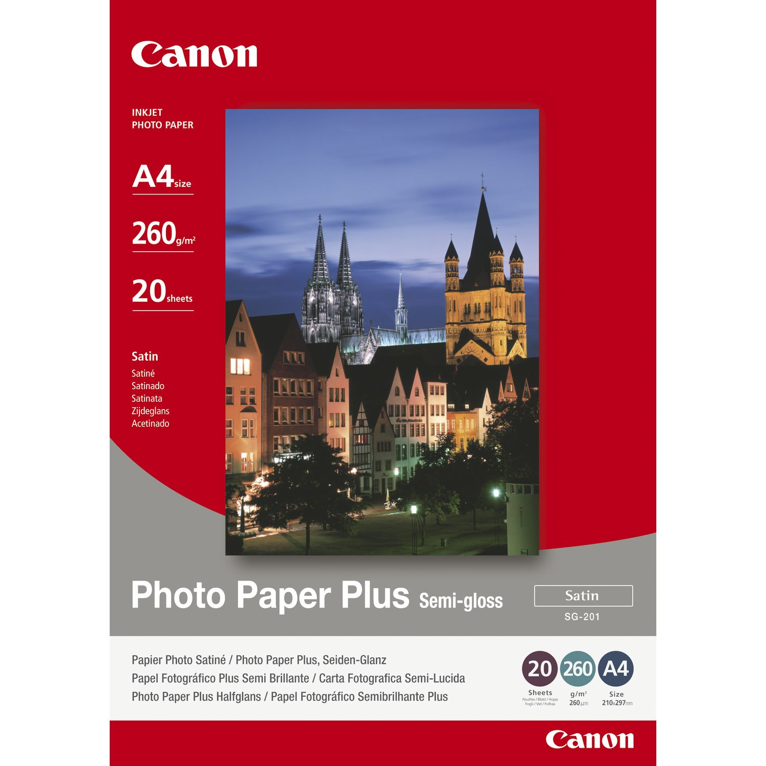 Photo Paper Canon 1686B021 Semi Gloss Photo Paper A4 20 Sheets