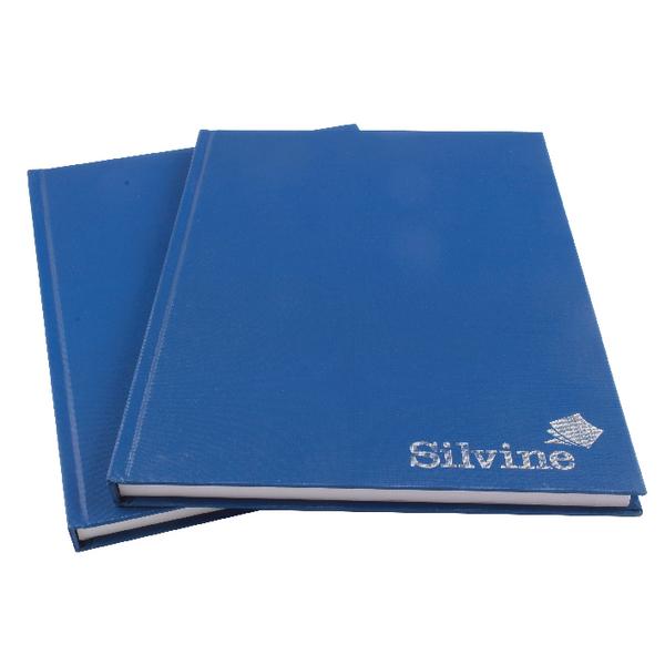 Ruled Silvine A4 Casebound Notebook Feint Blue (Pack 6)