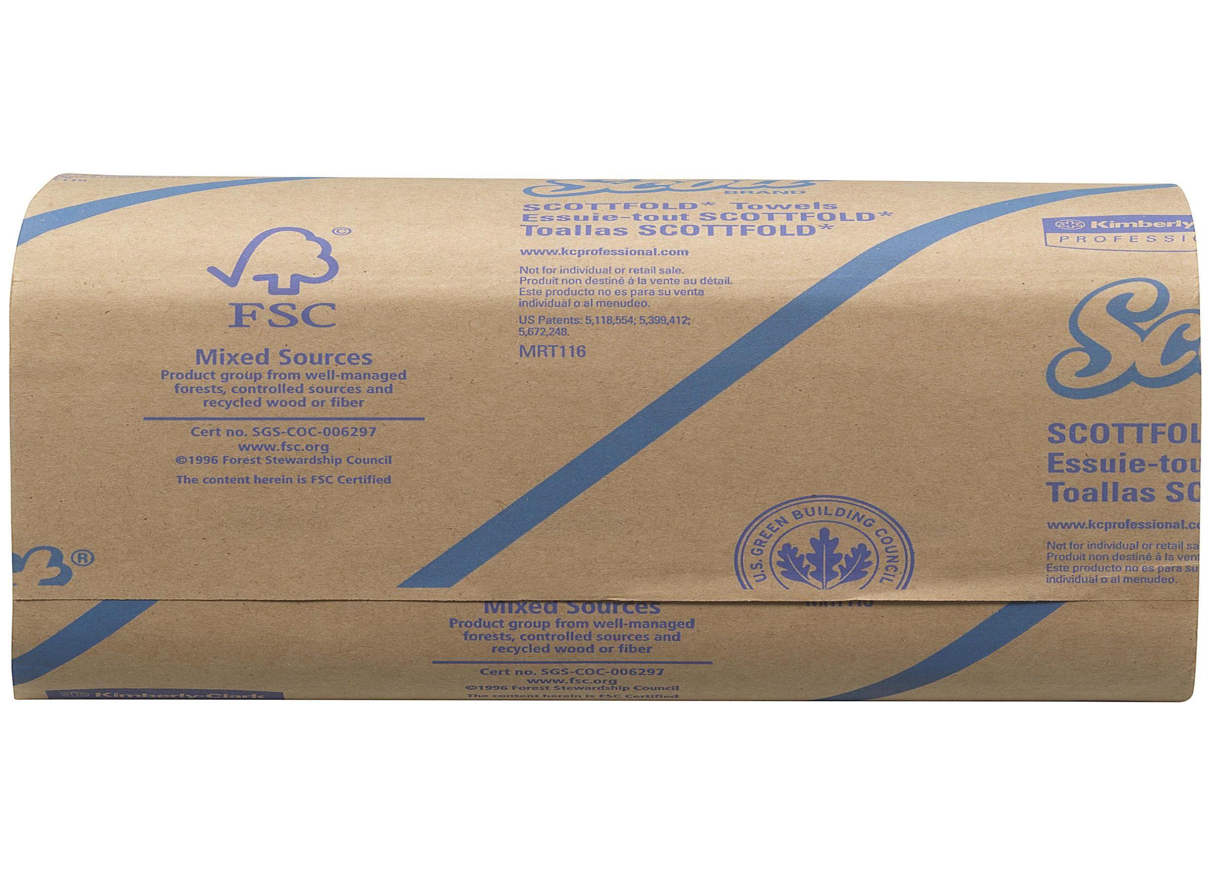 Scott Scottfold Hand Towels 175 Towels per Sleeve Ref 6633 [Pack 25 Sleeves]