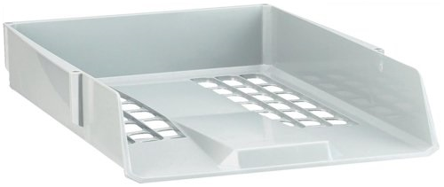 Avery Basics Letter Tray Stackable Versatile A4 Foolscap Light Grey Ref 1132LGRY