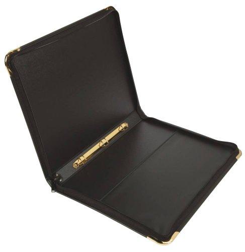 Goldline Pres Case Vinyl Metal Trim 20 Sleeves 6 Ring A2 BK