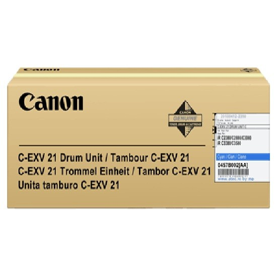 Canon 0457B002 EXV21 Cyan Drum Unit 53K