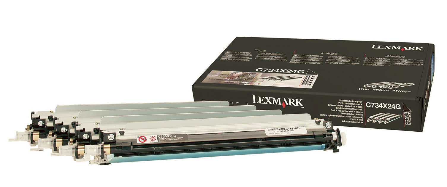 Lexmark C734/C736 Photoconductor Unit 4Pack