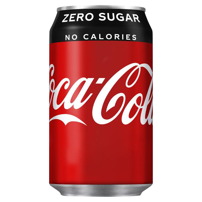 Coca Cola Zero 330ml Cans (Pack 24)