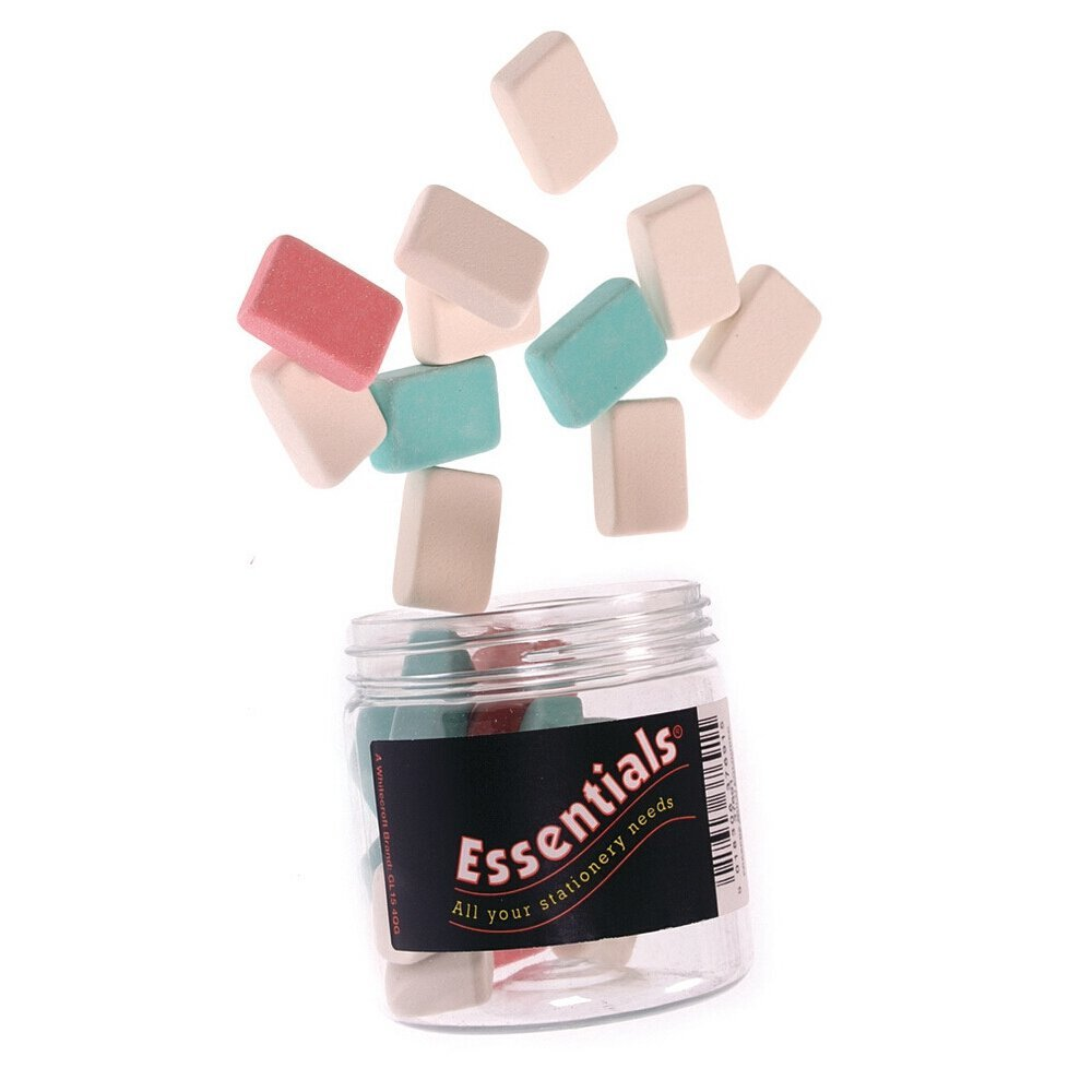Erasers ValueX Pencil Eraser Assorted Colours (Pack 25)