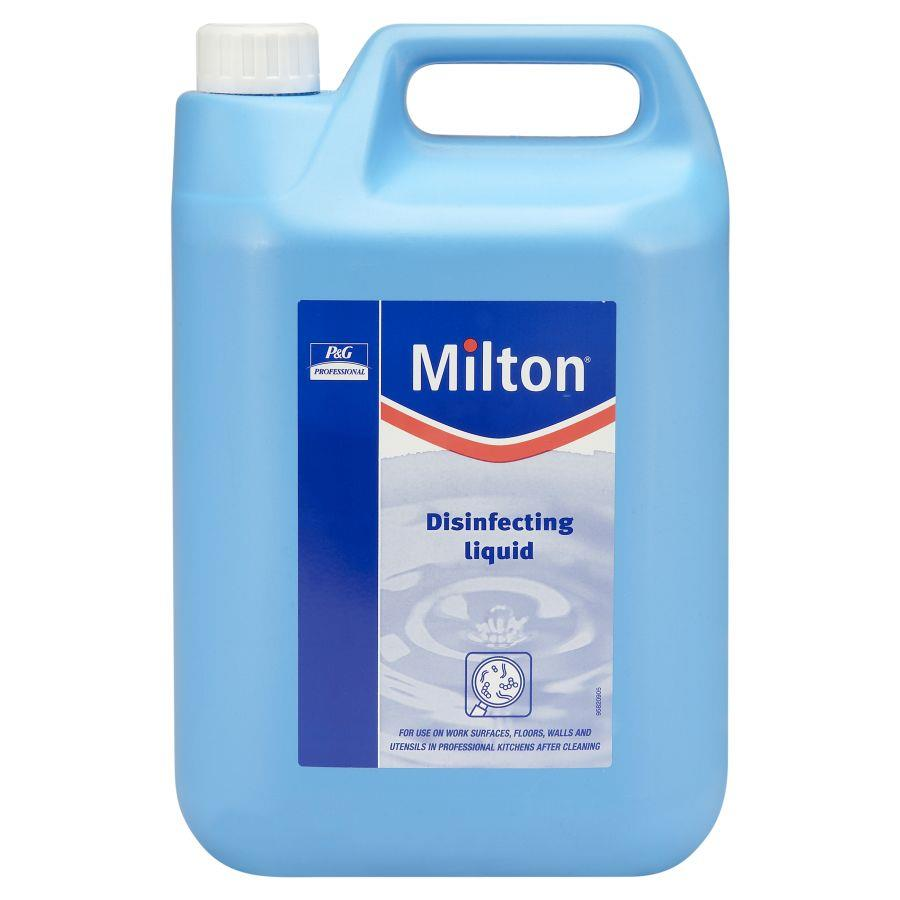 Cleaning Chemicals Milton Disinfecting fluid 5 Litre