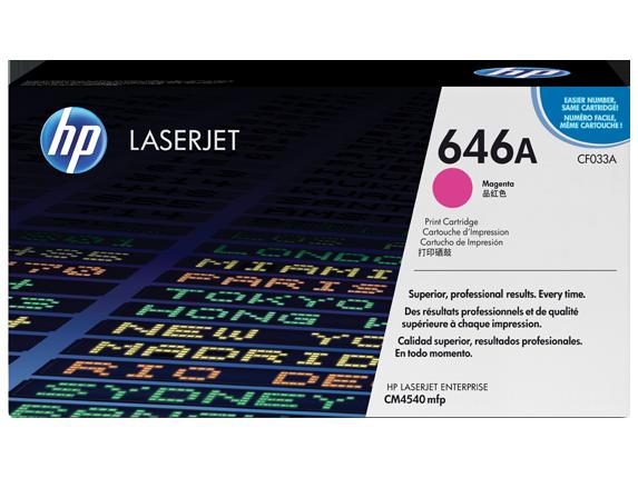 Hewlett Packard [HP] No. 646A Laser Toner Cartridge Page Life 12500pp Magenta Ref CF033A