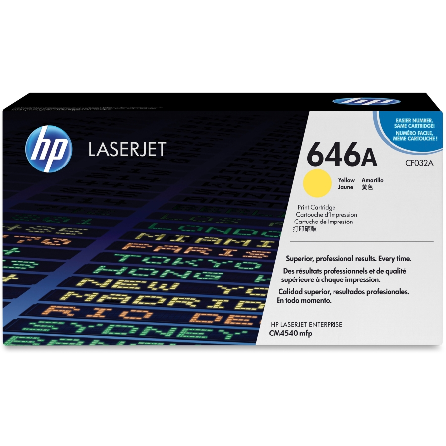 Hewlett Packard [HP] No. 646A Laser Toner Cartridge Page Life 12500pp Yellow Ref CF032A