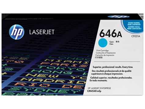 Hewlett Packard [HP] No. 646A Laser Toner Cartridge Page Life 12500pp Cyan Ref CF031A