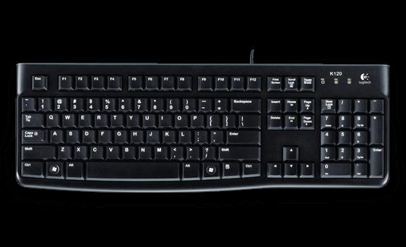 Logitech K120 UK Business Keyboard Wired USB Low-profile Keys Ref 920-002524