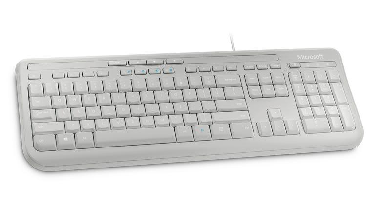 Microsoft Wired Keyboard 600 White ANB-00026