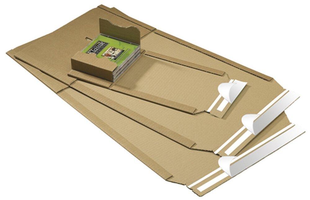 Smartbox Universal Mailer 335x275x80mm Size C4Plus BrownPK25