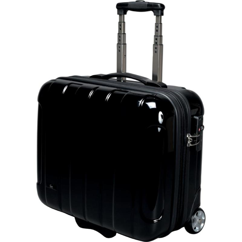 Briefcases & Luggage JSA Business Trolley Polycarbonate with Removeable Laptop Case Black